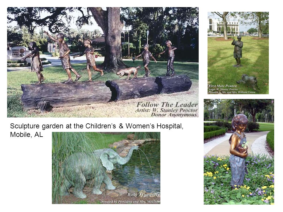 Sculpture garden at the Childrens & Womens Hospital, Mobile, AL