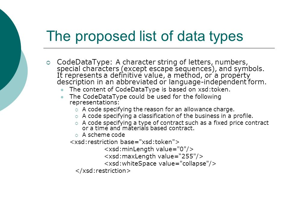 The proposed list of data types FpML defined schemes would require 60 characters maximum.