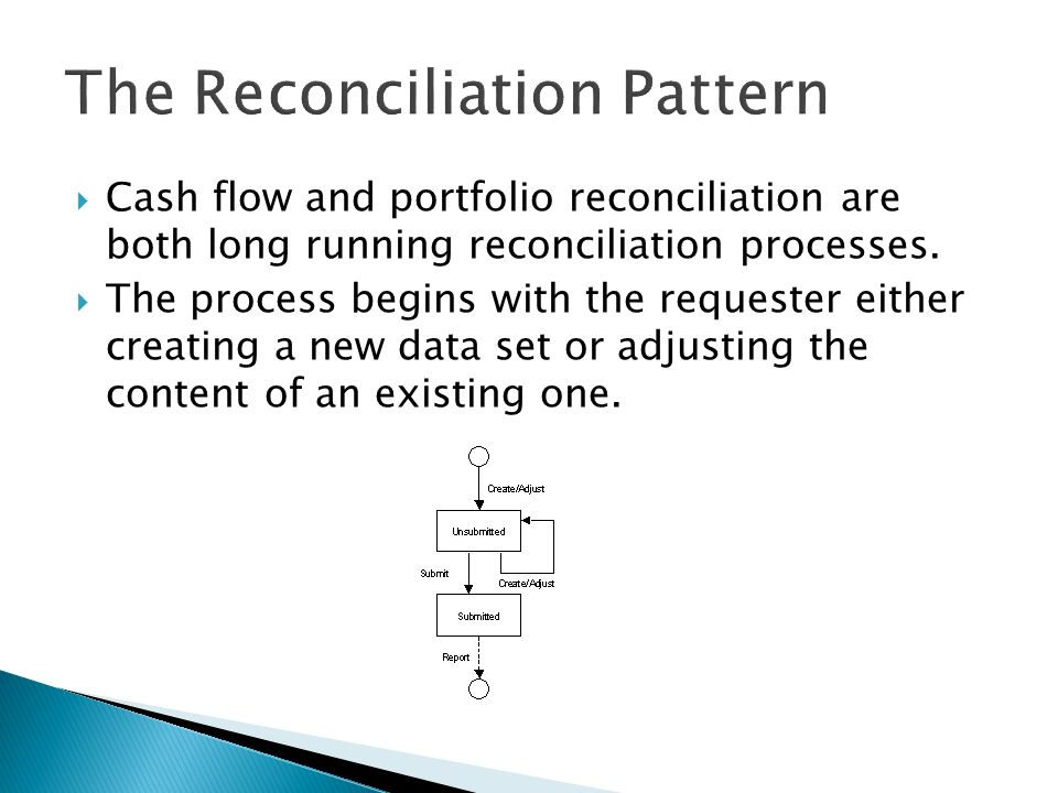 Cash flow and portfolio reconciliation are both long running reconciliation processes.