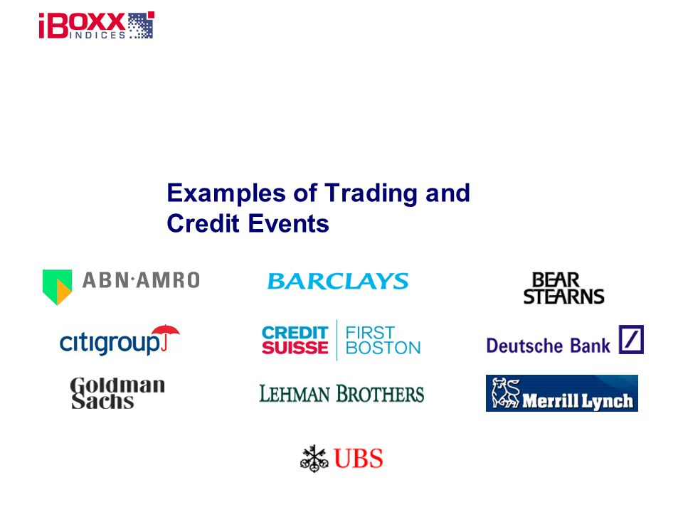 Reference (apr02) Examples of Trading and Credit Events