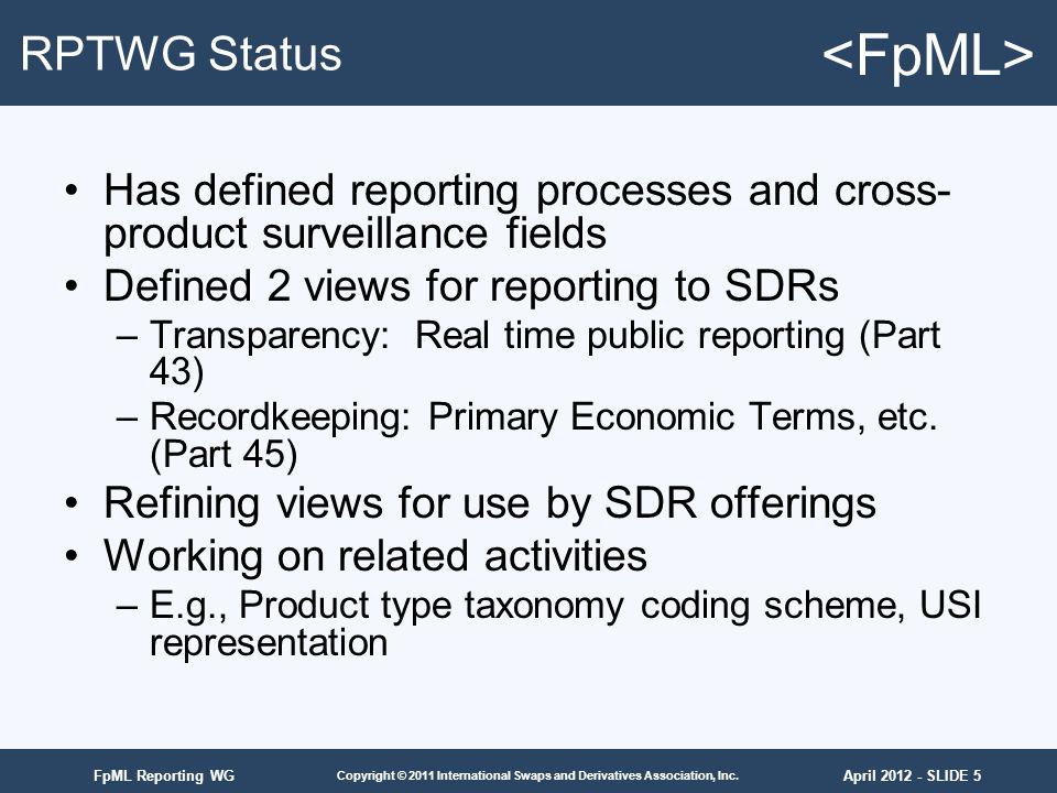 April 2012 - SLIDE 5 Copyright © 2011 International Swaps and Derivatives Association, Inc.