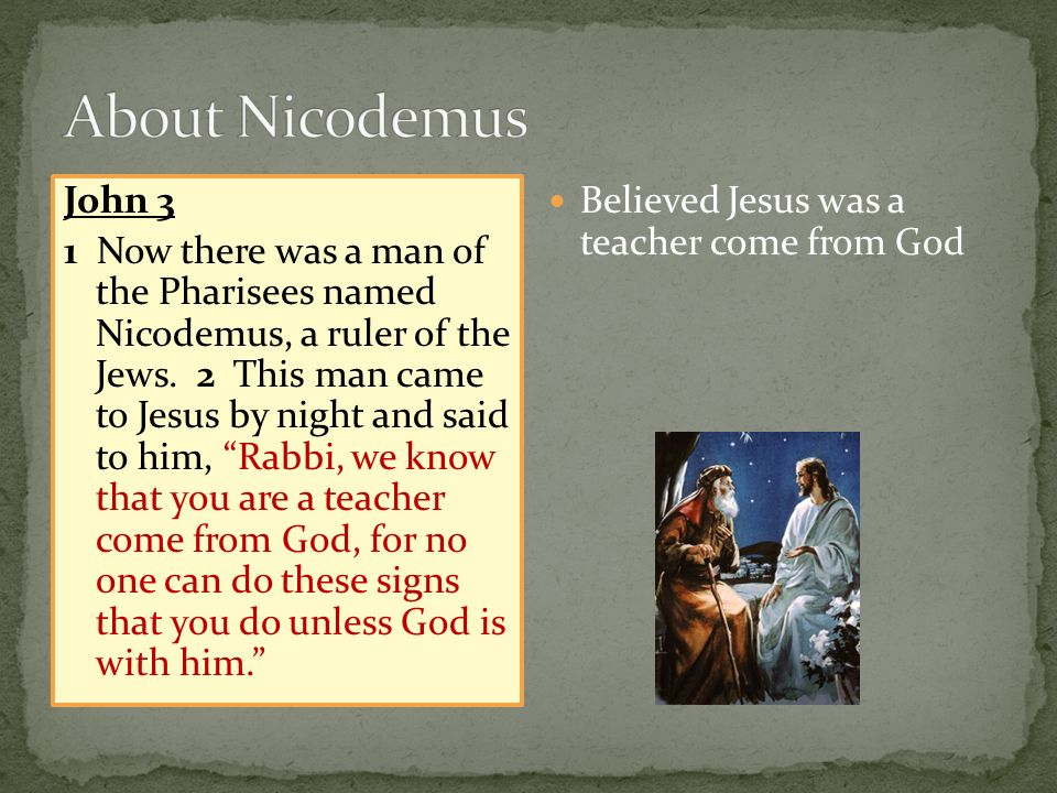 John 3 1 Now there was a man of the Pharisees named Nicodemus, a ruler of the Jews.