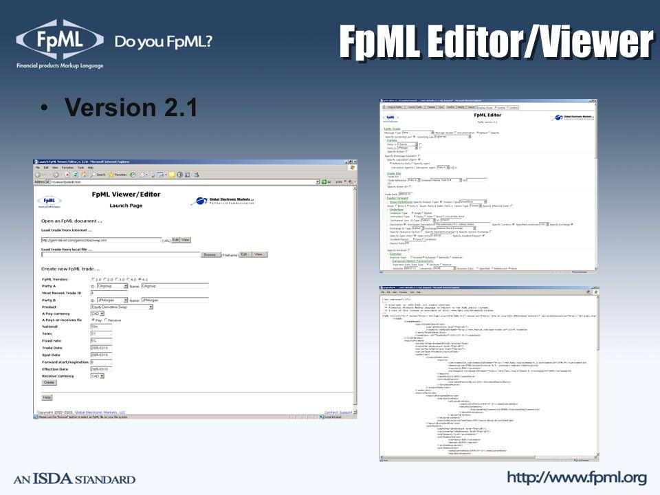 FpML Editor/Viewer Version 2.1