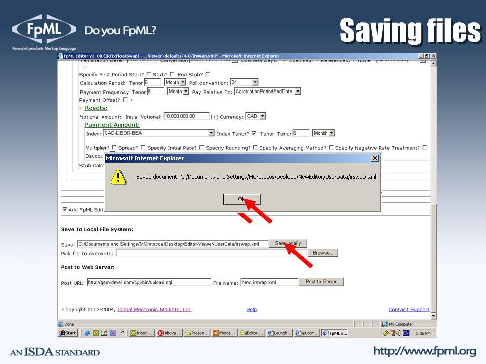 Saving files