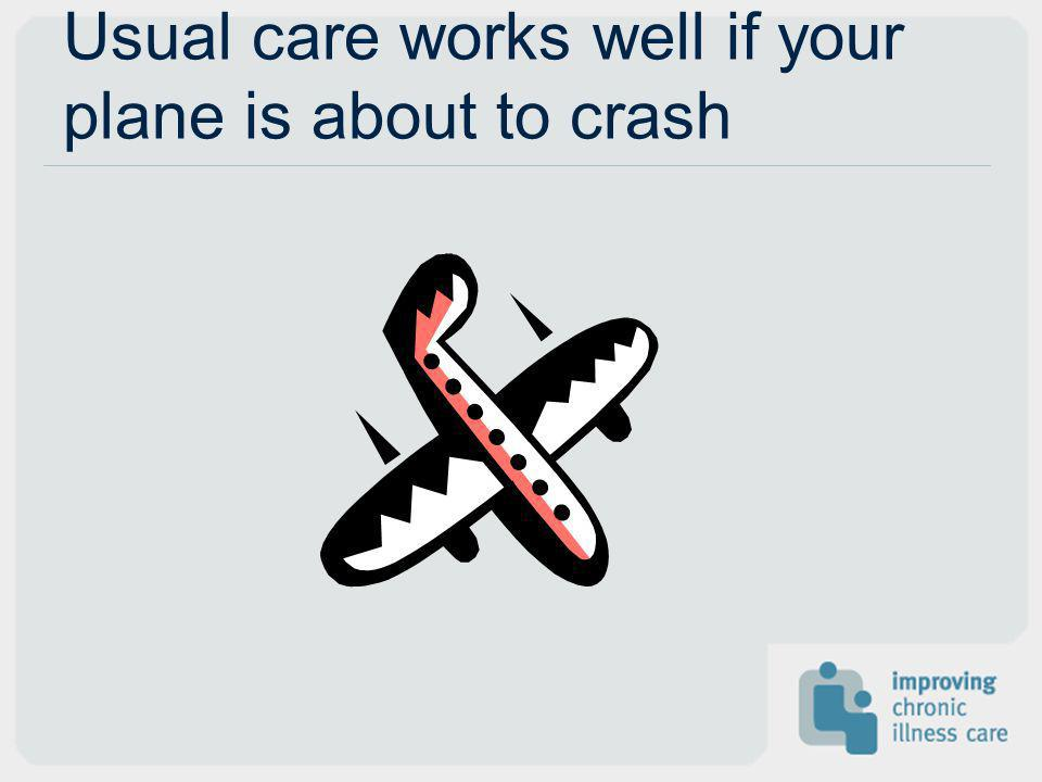 Usual care works well if your plane is about to crash