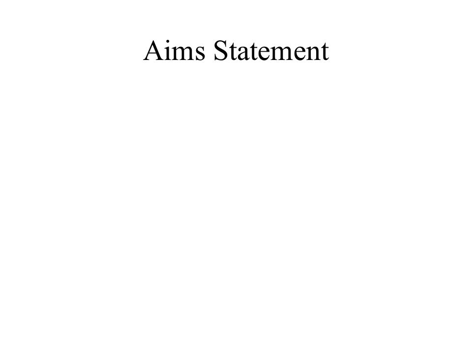 Aims Statement