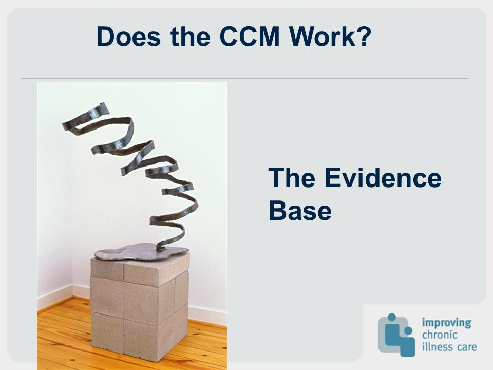 The Evidence Base Does the CCM Work?
