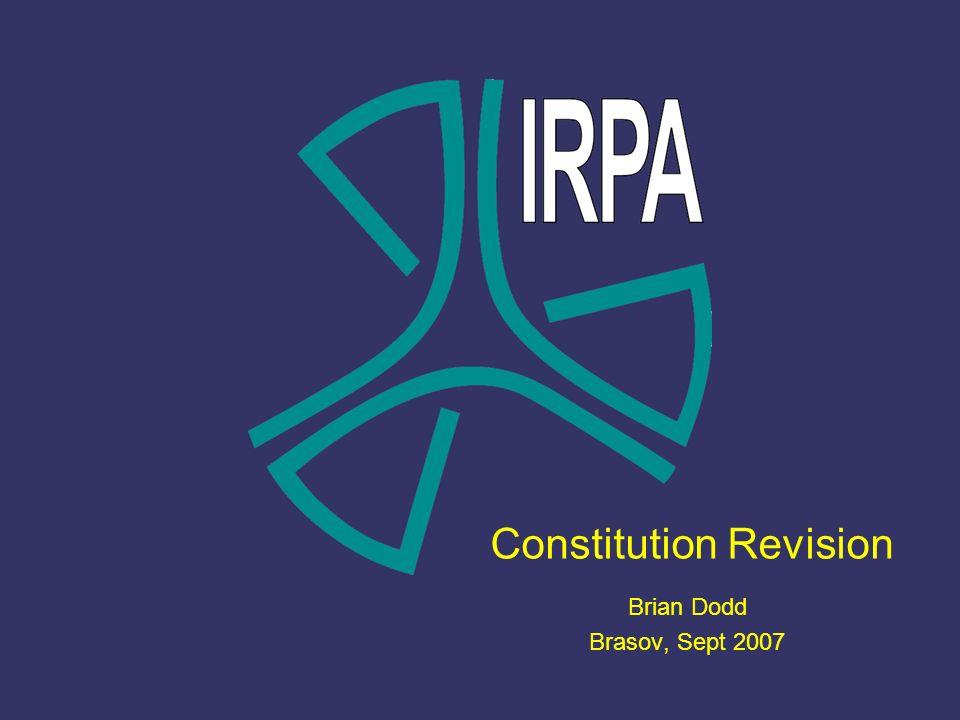 Constitution Revision Brian Dodd Brasov, Sept 2007