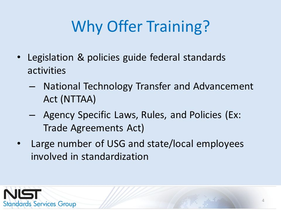 Why Offer Training.