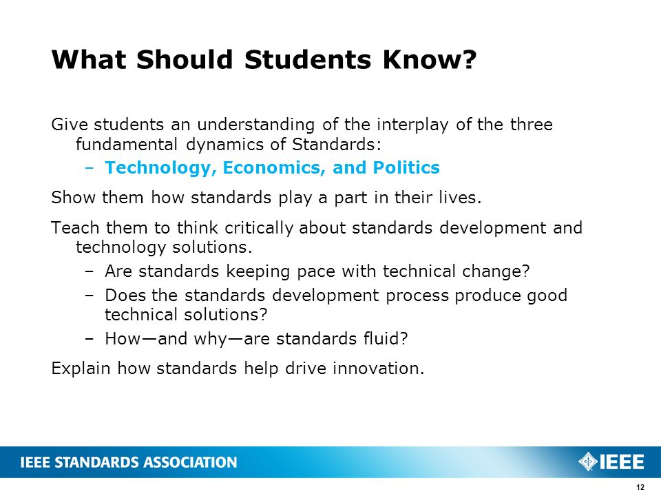 What Should Students Know.
