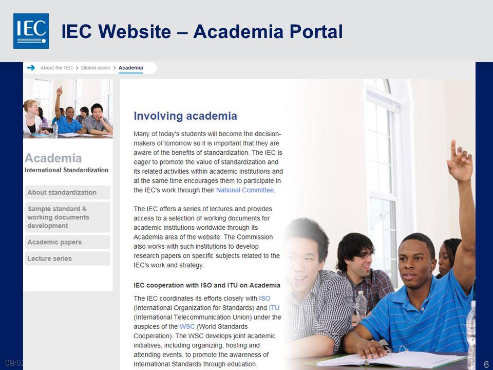 IEC Website – Academia Portal 09/02/2014 WSC Academia - IEC 6