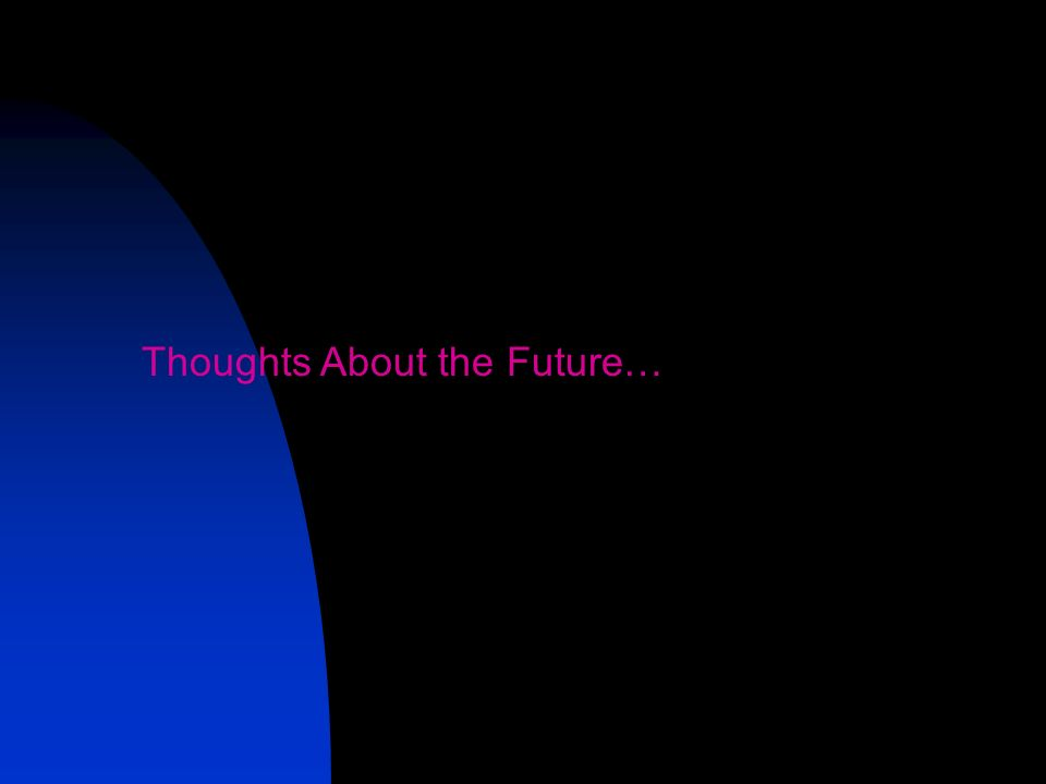 Thoughts About the Future…