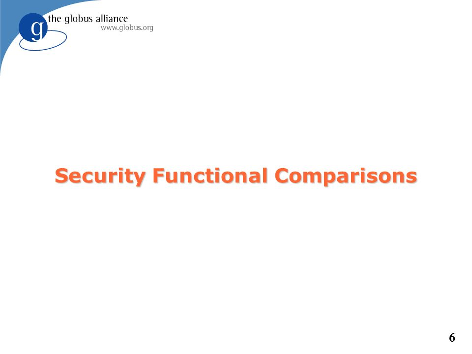 6 Security Functional Comparisons