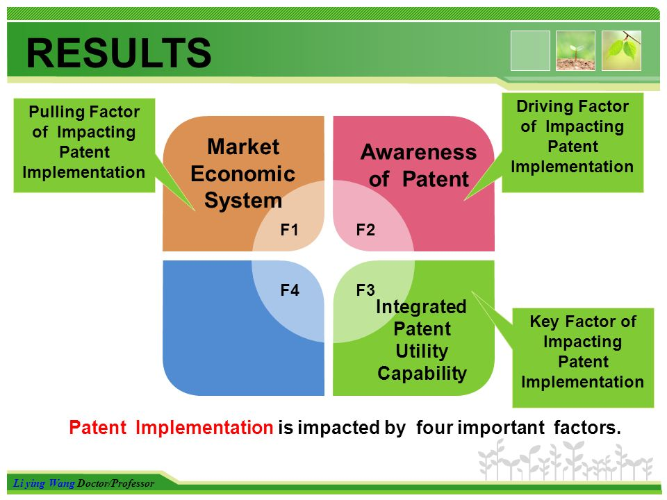 Li ying Wang Doctor/Professor Market Economic System Patent Implementation is impacted by four important factors.