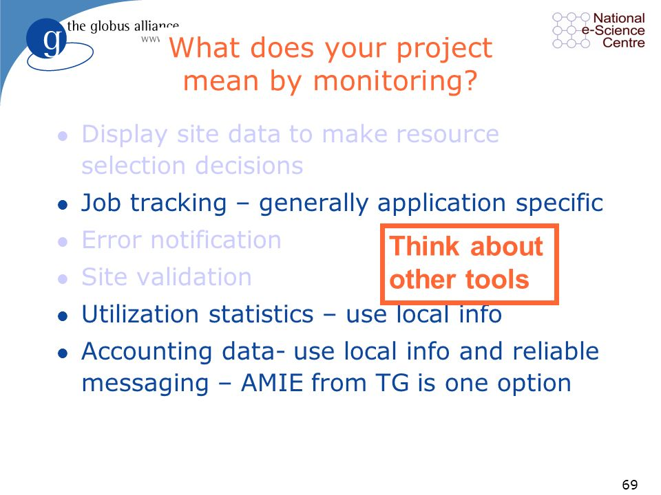 69 What does your project mean by monitoring.