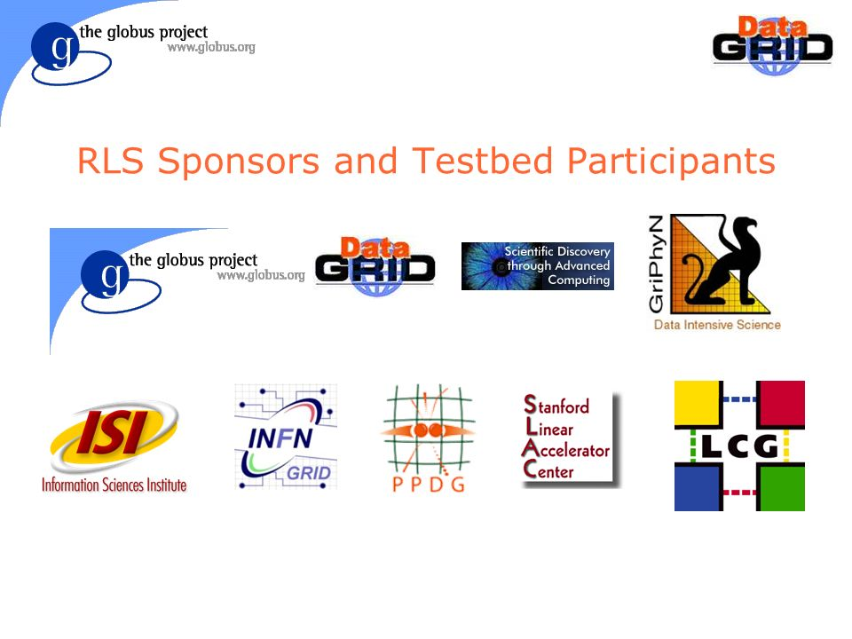 RLS Sponsors and Testbed Participants