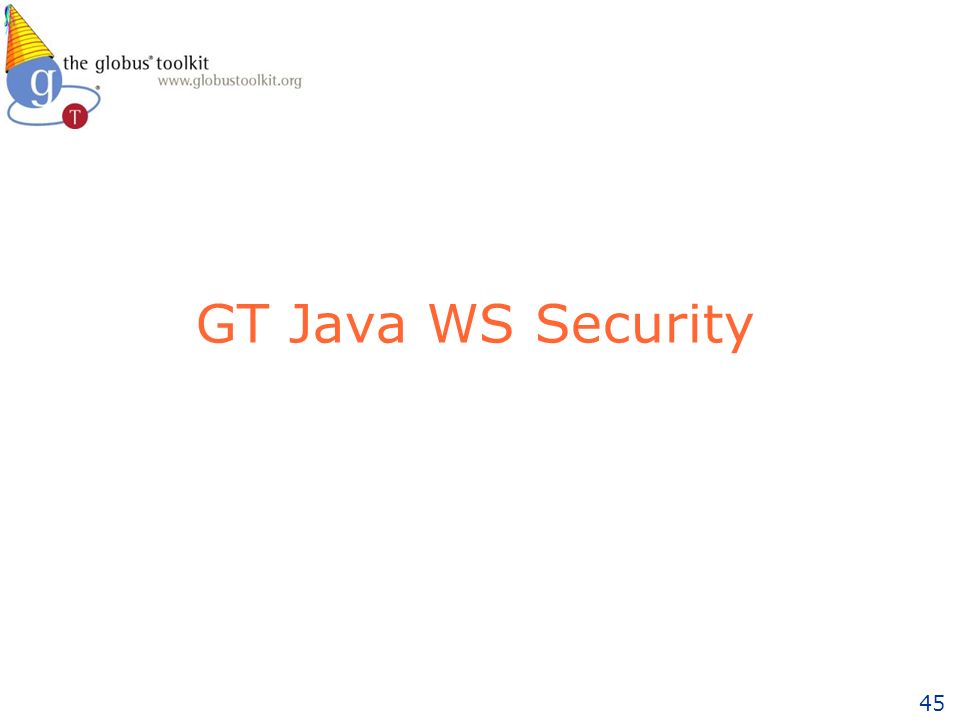 45 GT Java WS Security
