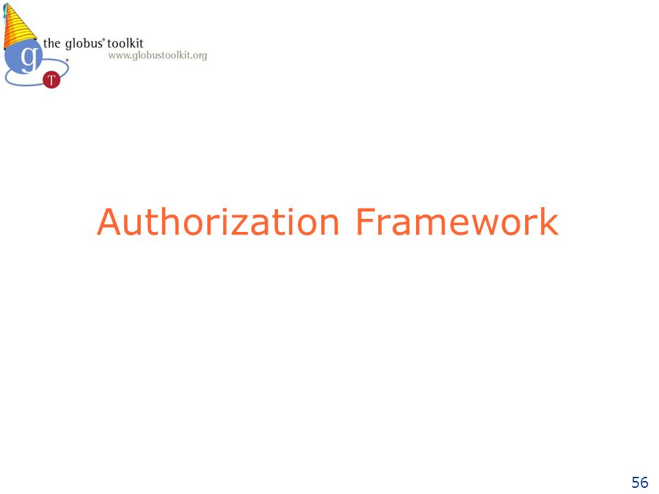 56 Authorization Framework