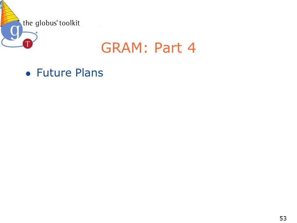 53 GRAM: Part 4 l Future Plans