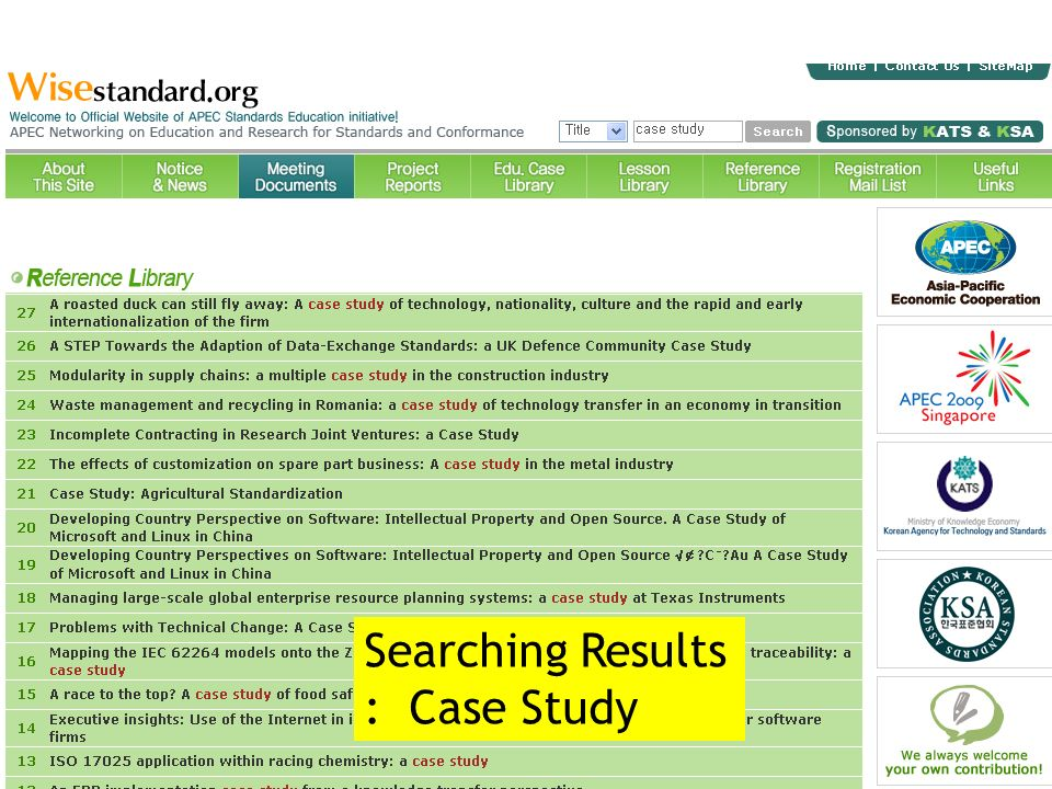 Searching Results : Case Study