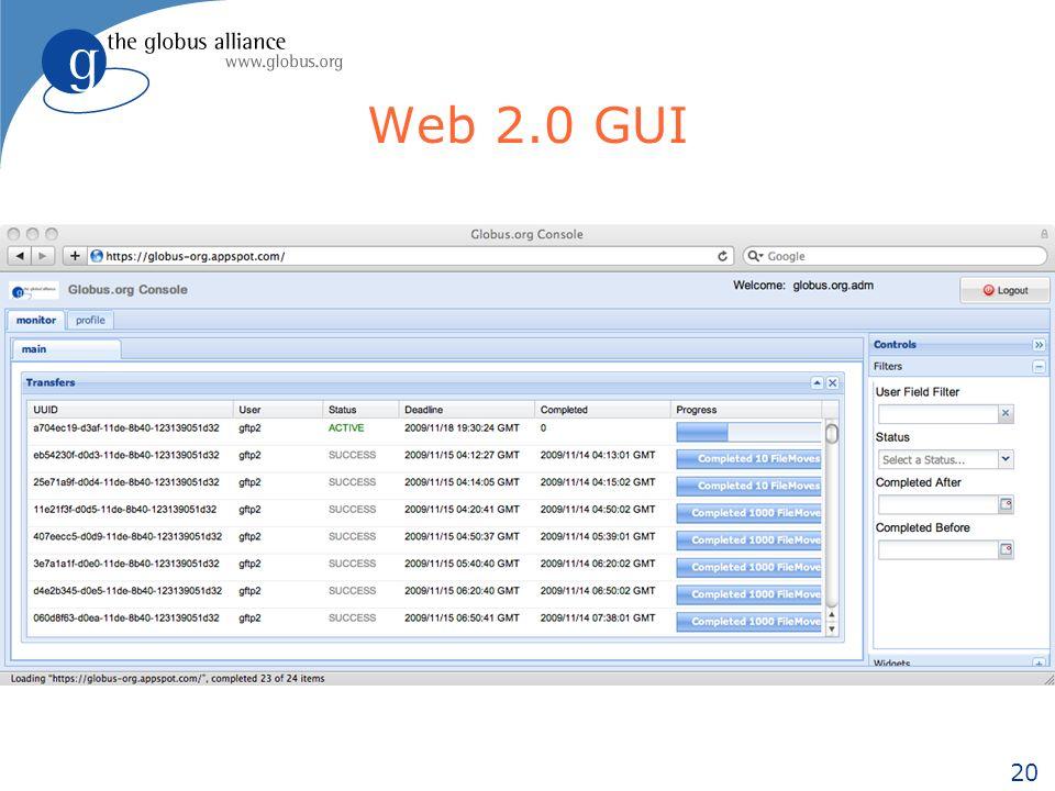 20 Web 2.0 GUI