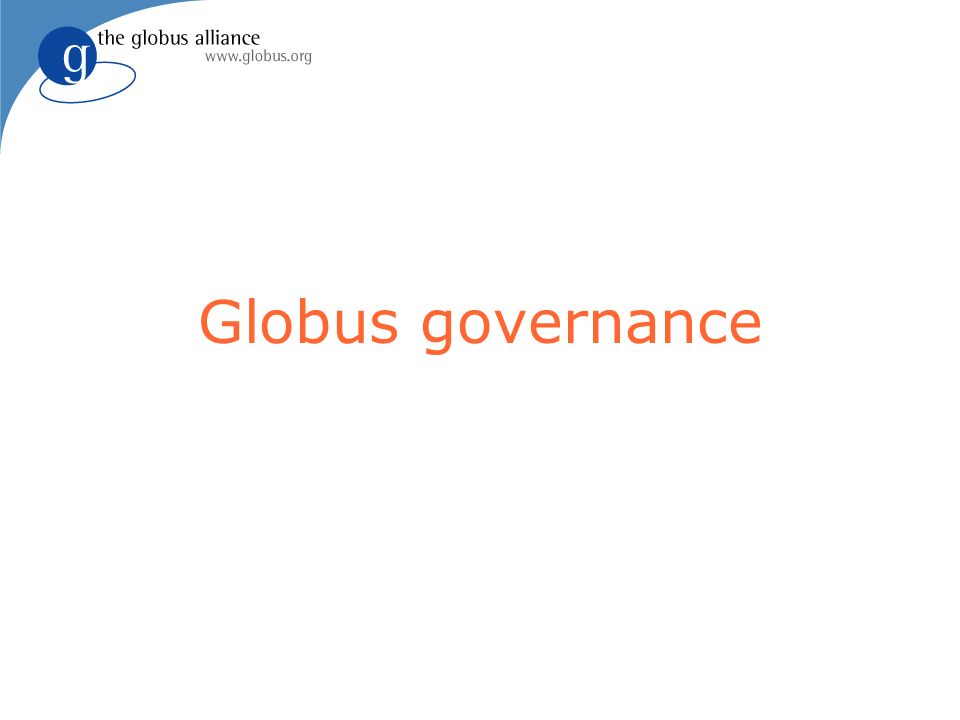 Globus governance