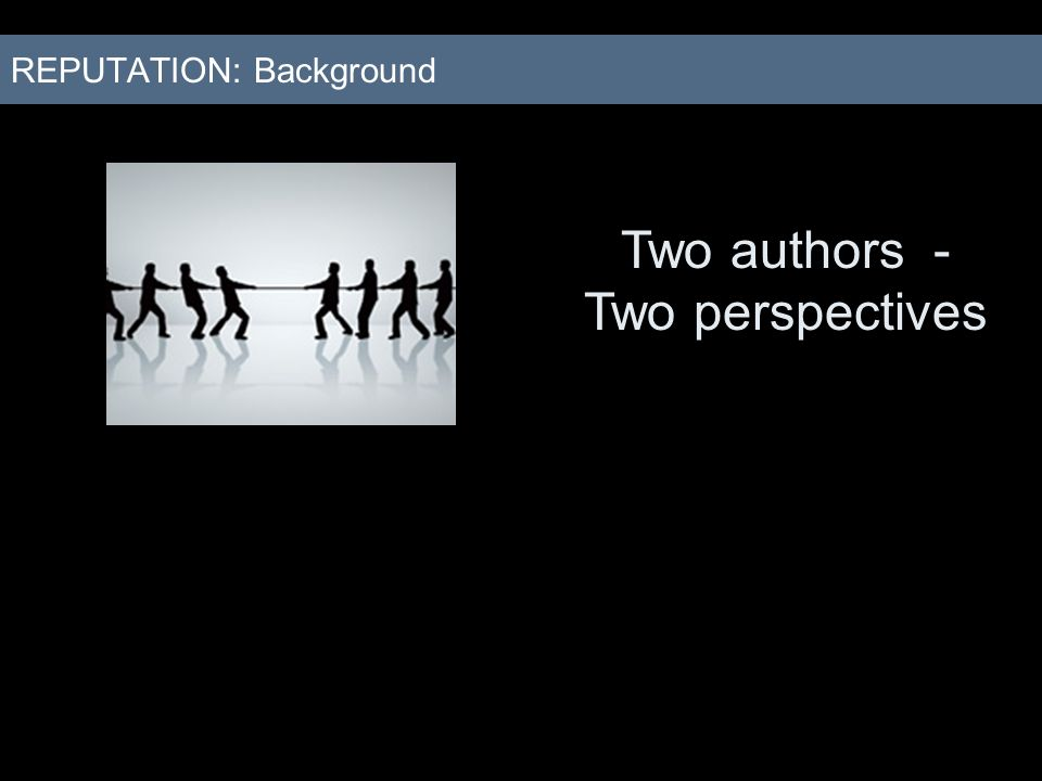 Two authors - Two perspectives