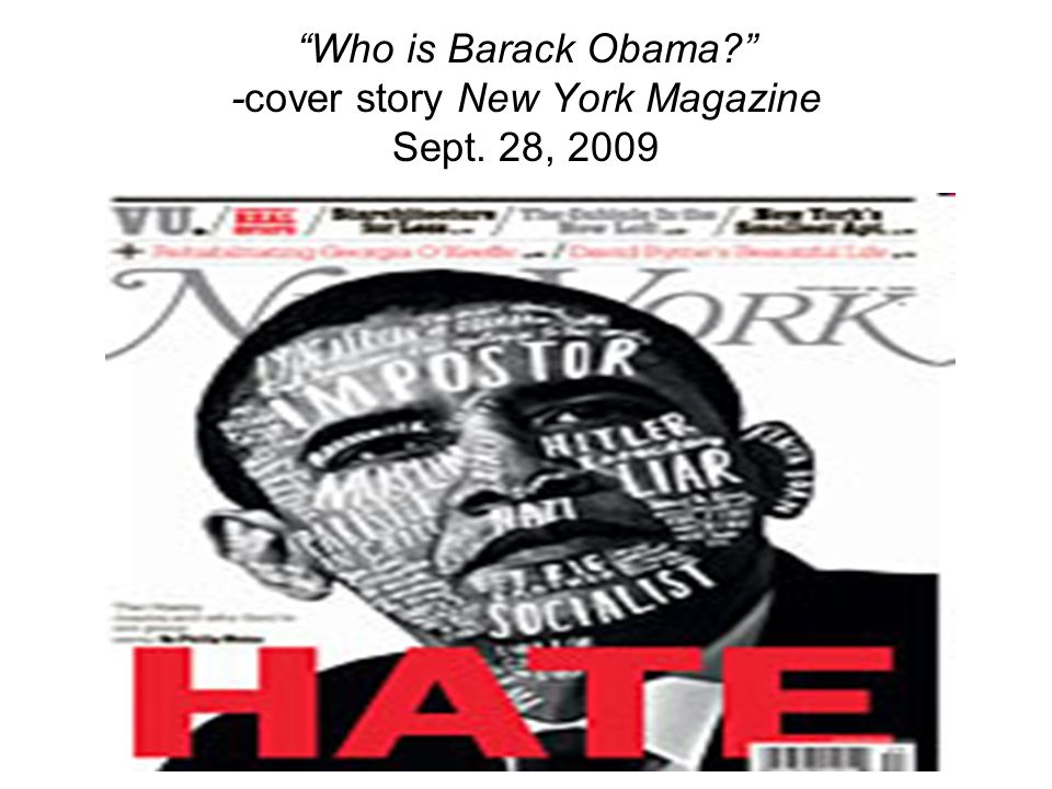 Who is Barack Obama -cover story New York Magazine Sept. 28, 2009