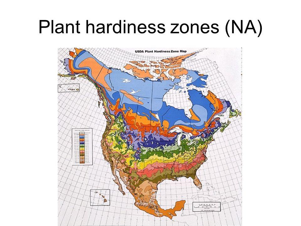 Plant hardiness zones (NA)