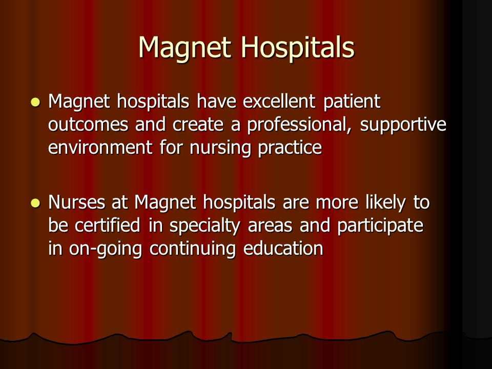 Magnet Evaluators Quote Having a librarian who supports the nursing staff is critical.