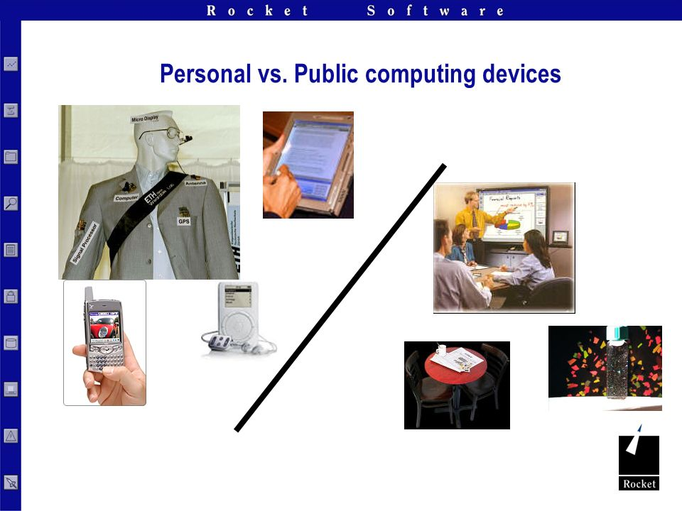 Personal vs. Public computing devices