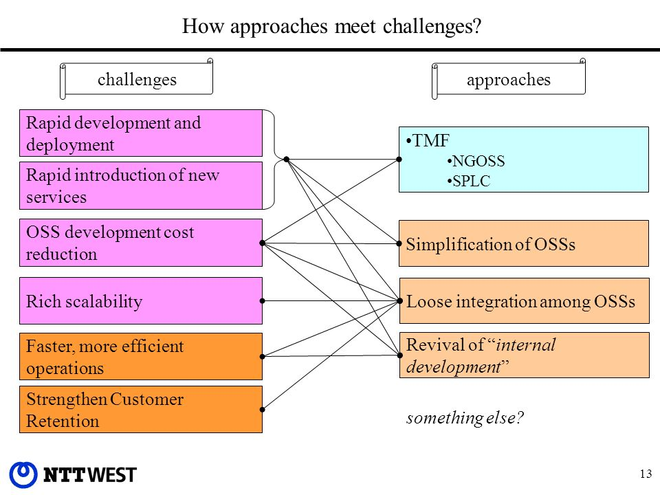 13 How approaches meet challenges.