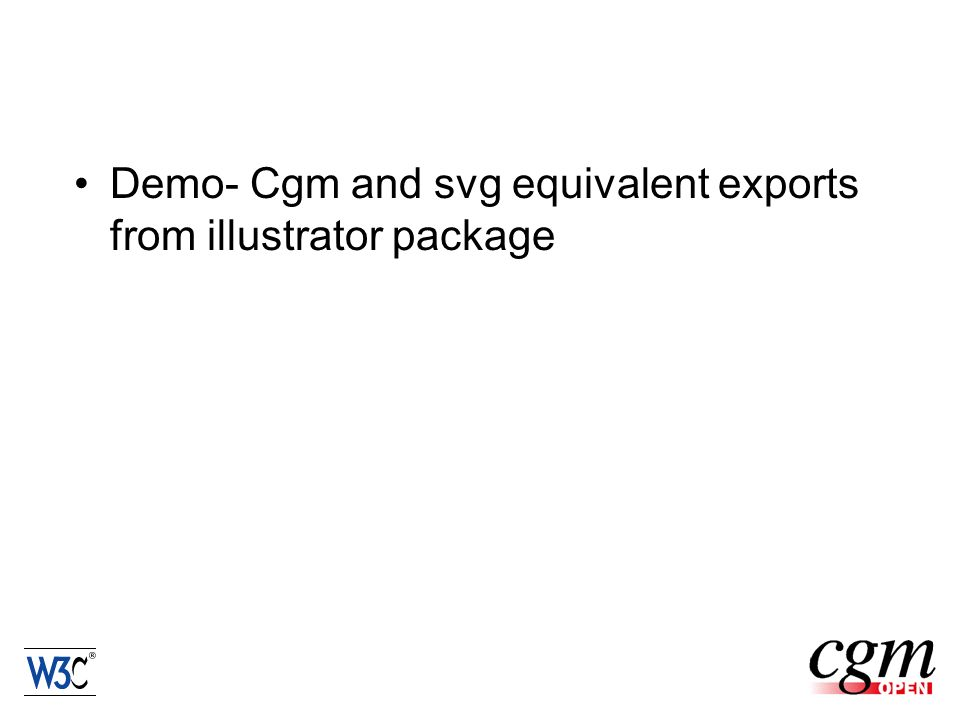 Demo- Cgm and svg equivalent exports from illustrator package