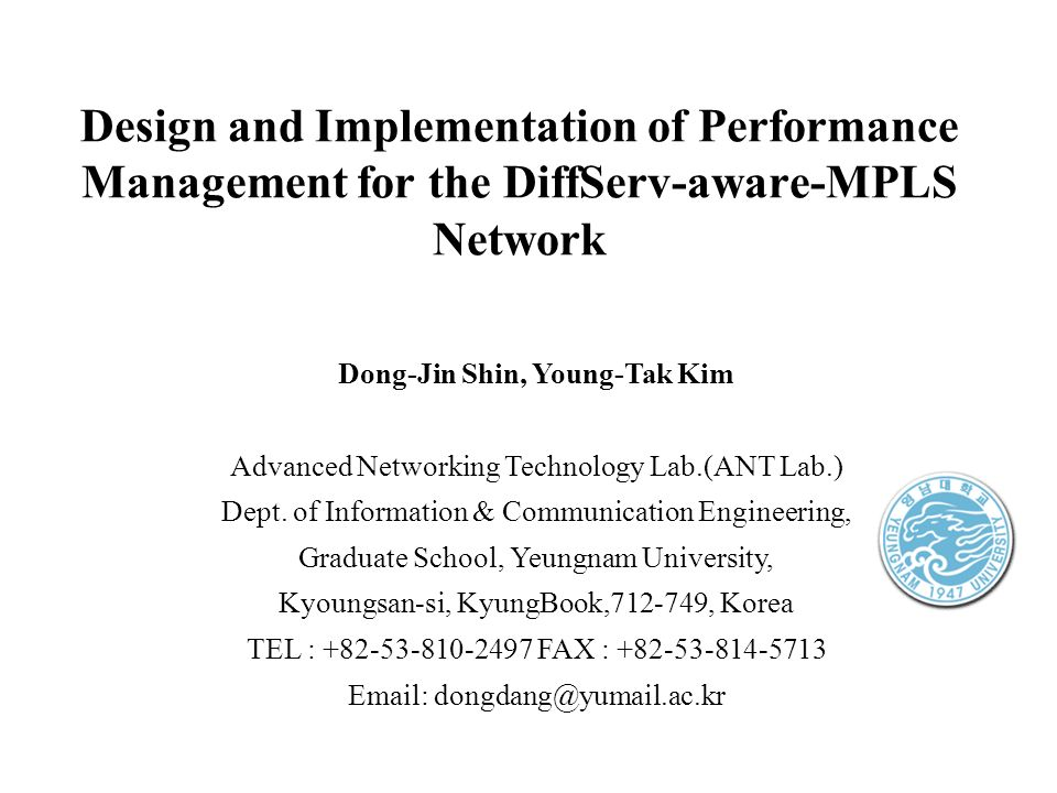 YEUNGNAM Univ.ANT Lab. DONG-JIN SHIN (12) APNOMS 2003 V.