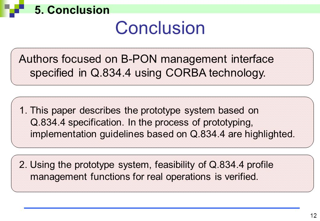 Summary of current interoperability problem (cont.) OMG should properly update the latest specifications of CORBA2.4.*,2.5.