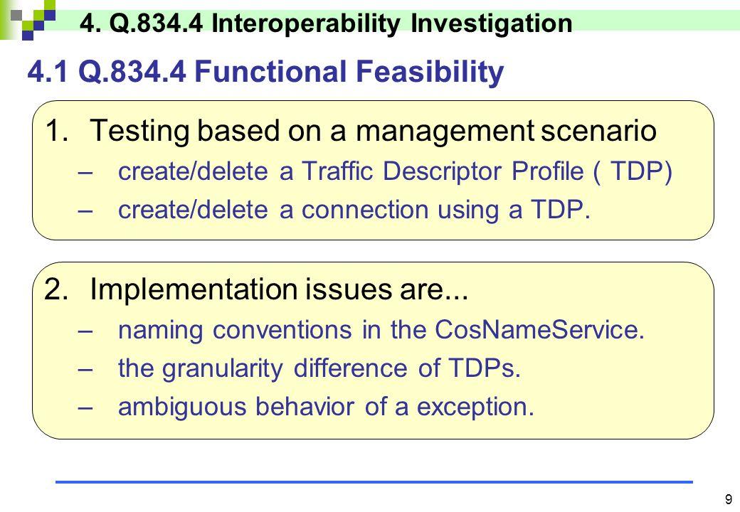 8 ISEM(B-PON SMS) CORBA Agent ORB HMI Agent NE Manager NE CORBA Navigator (OMS) Profile Object Repository COS NamingService COS NotificationService HMI RMI/Jini Q.834.4 CORBA I/F 3.3 Q.834.4 Prototype System Architecture LAN/ ISDN 3.