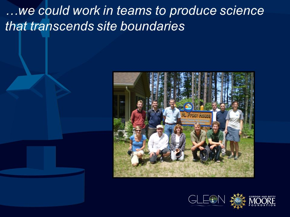 …we could work in teams to produce science that transcends site boundaries