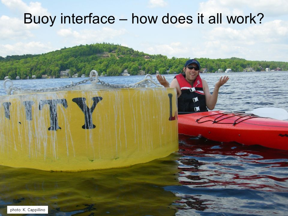 photo: K. Cappillino Buoy interface – how does it all work?
