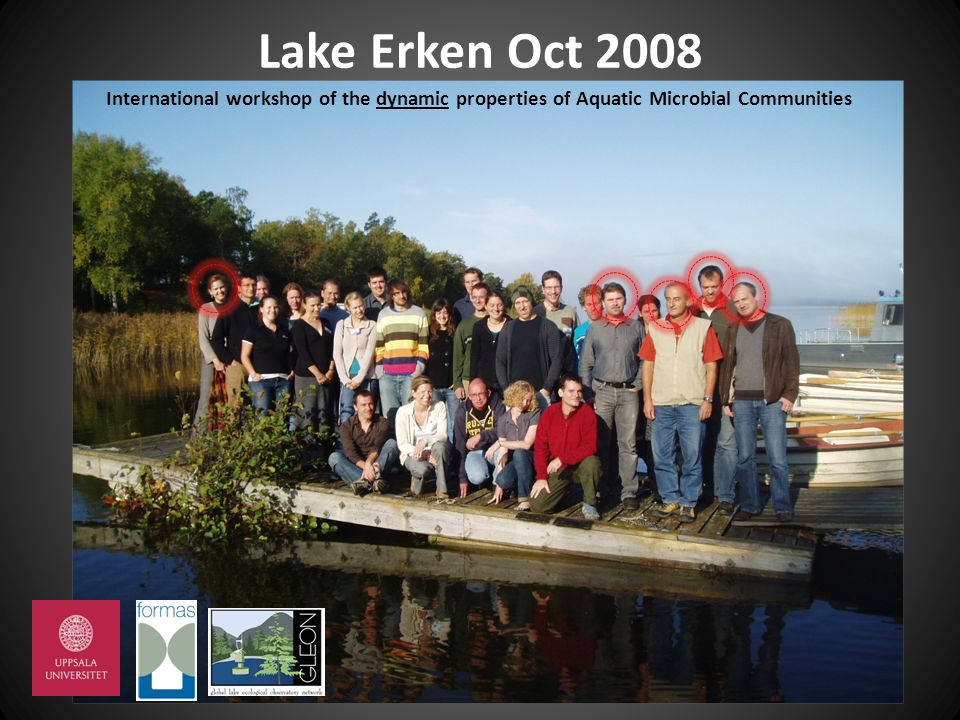Lake Erken Oct 2008 International workshop of the dynamic properties of Aquatic Microbial Communities