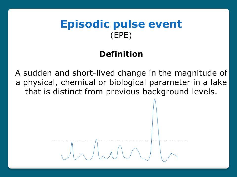 A.Episodic flood events B. Episodic mixing events C.