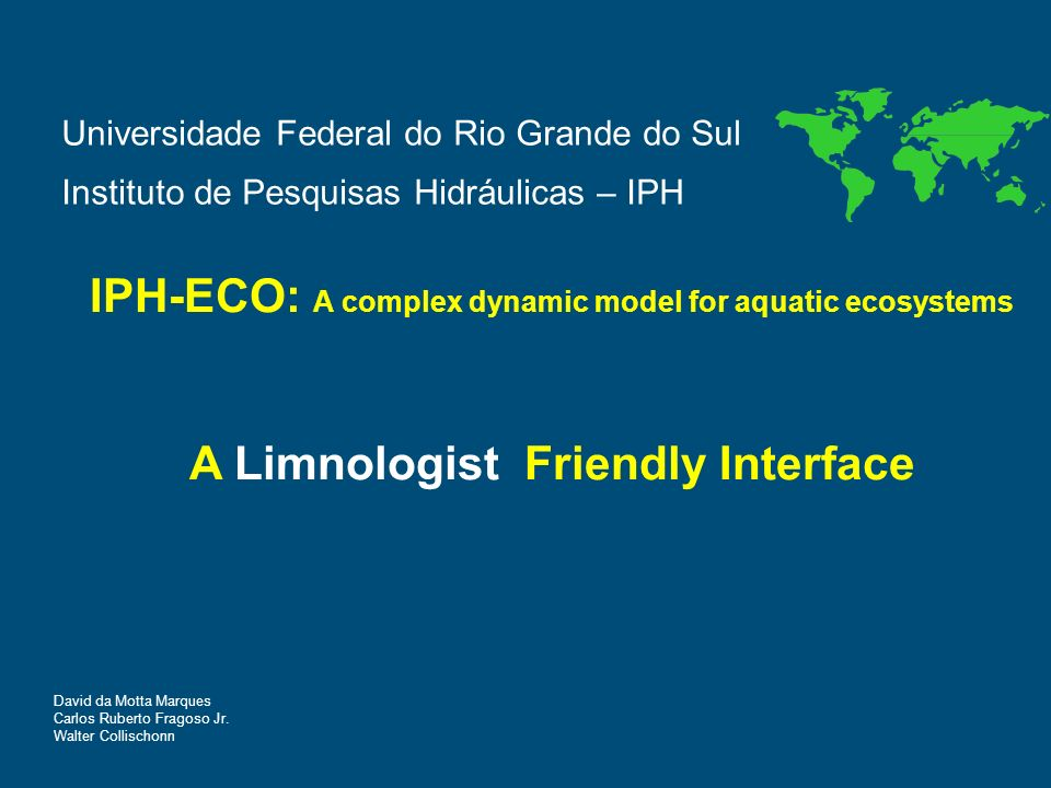 Defining geometry A Limnologist Friendly Interface for IPH-ECO