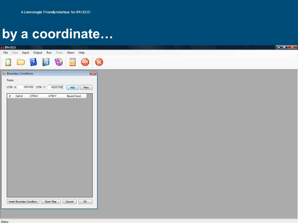 by a coordinate… A Limnologist Friendly Interface for IPH-ECO