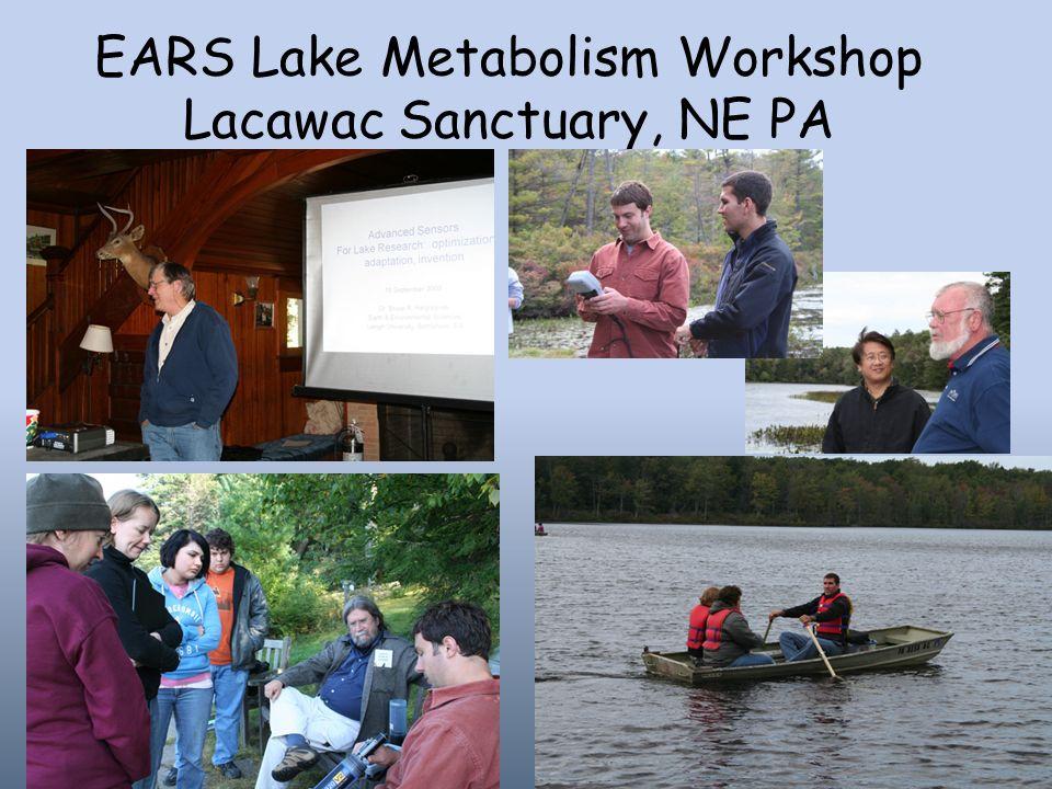 EARS Lake Metabolism Workshop Lacawac Sanctuary, NE PA