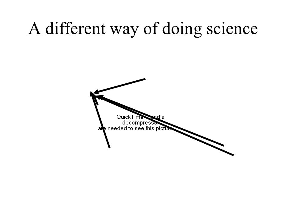 A different way of doing science