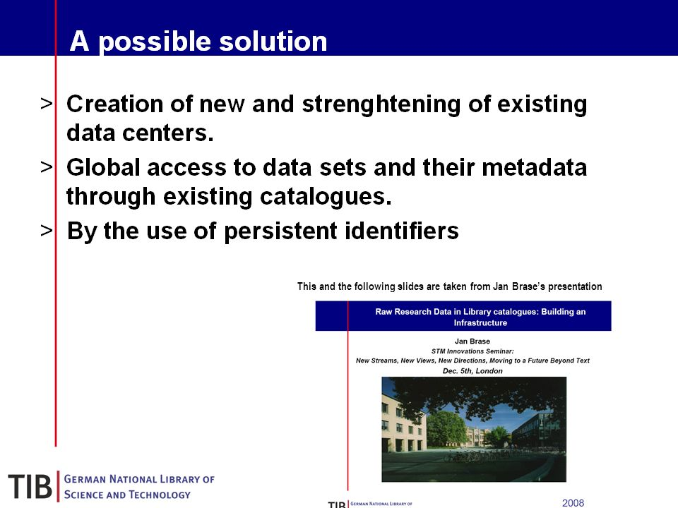 17 A possible solution Creation of new and strenghtening of existing data centers.