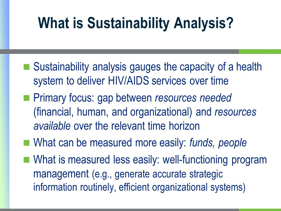 What is Sustainability Analysis.
