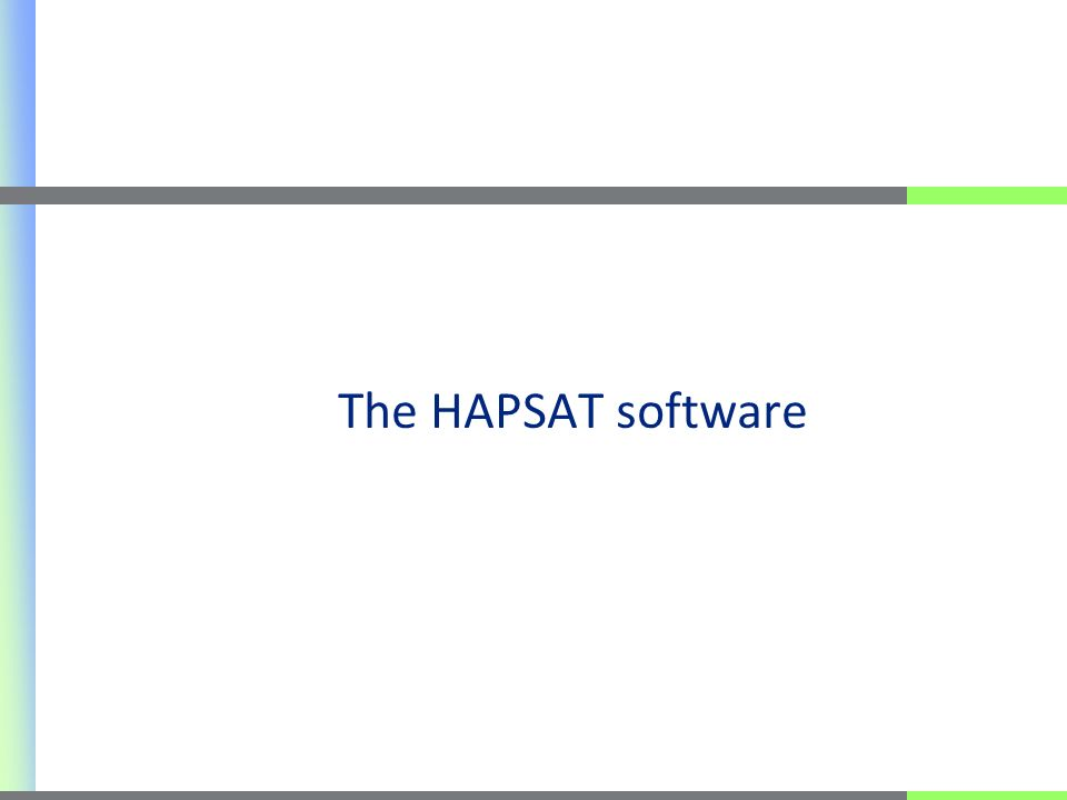 The HAPSAT software