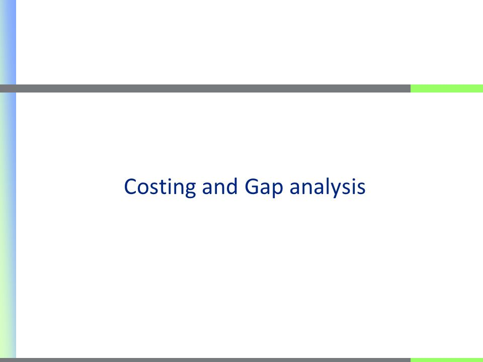 Costing and Gap analysis