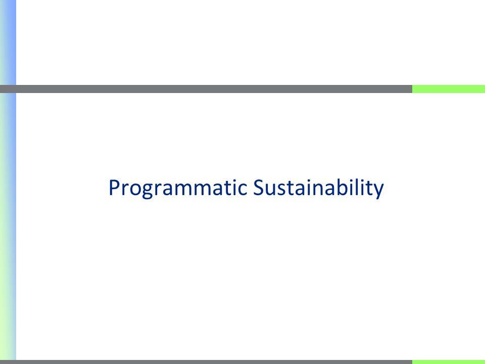 Programmatic Sustainability
