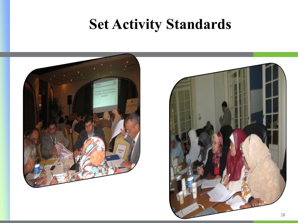 Set Activity Standards 26